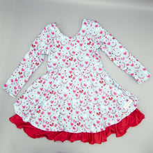 Load image into Gallery viewer, Evie's Closet REVERSIBLE Christmas/Valentine Dress
