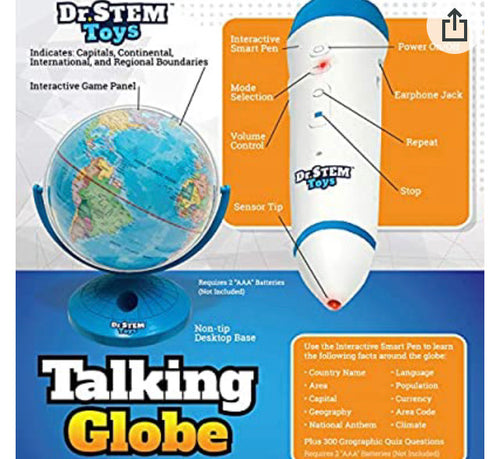 Talking Globe STEM Toy
