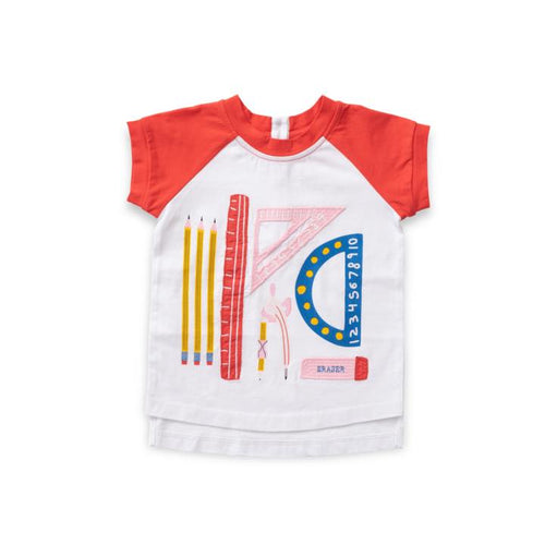 Math Lesson Applique Raglan Tee