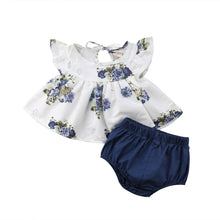 Load image into Gallery viewer, Summer Floral Bummie Set