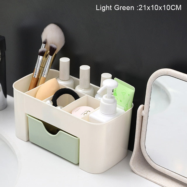 Large Capacity Drawer Make Up Organizer Bathroom Makeup Storage Box Women Skin Care Dressing Table Cosmetic Lipstick Beauty Case - Product upscale