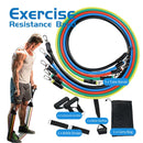 11PCS Resistance Bands Tube Set Stretch Training Rubber Expander Tubes Pilates Fitness 4 Tubes Latex Foot Elastic Pull Rope - Product upscale