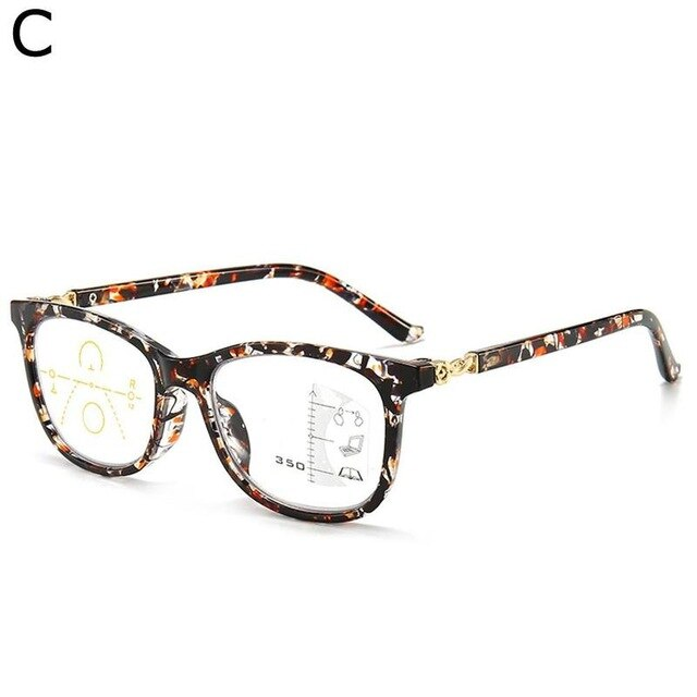 The new anti-blue light intelligent zoom multi-focus distance and near dual-use reading glasses comfortable large frame reading - Product upscale