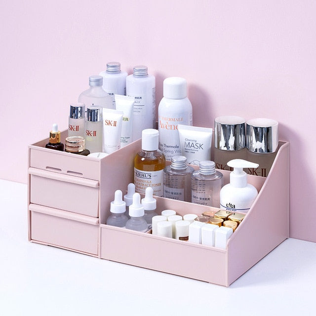Product upscale Jewelry Nail Polish Makeup Container Desktop Sundries Storage Box Large Capacity Cosmetic Storage Box Makeup Drawer Organizer - Product upscale