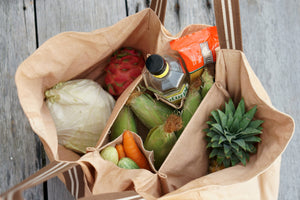 Big Grocery Bag with brilliant compartments for separating different types of products accordingly.