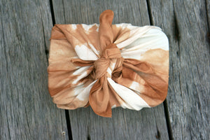 Top view of a lunch box wrap by aFuroshiki Wrapping Cloth - Xiapism Natural Dye