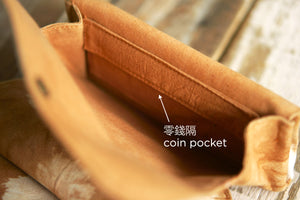 Coin Pocket in the first layer of Fabric Purse - Xiapism Natural Dye