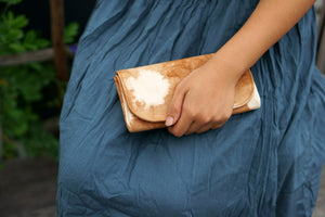 Fabric Purse in hand - Xiapism Natural Dye