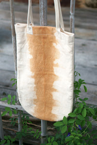 Long Canvas Tote by Xiapism Natural Dye