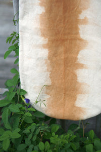 Close look of the Rounded Canvas Tote - Xiapism Natural Dye