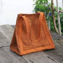Load image into Gallery viewer, Eco Shopping Bag with 3 big compartments inside for easy organising - Xiapism Natural Dye