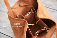 Load image into Gallery viewer, 3 big compartments inside the Eco Shopping Bag for easy organising - Xiapism Natural Dye