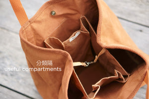 3 big compartments inside the Eco Shopping Bag for easy organising - Xiapism Natural Dye