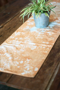 Grunge Table Runner place nicely on the table - Xiapism Natural Dye