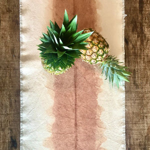 Rustic Canvas Table Runner - Xiapism Natural Dye