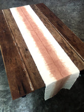 Load image into Gallery viewer, Rustic canvas Table Runner on the table - Xiapism Natural Dye