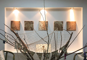 Natural home deco hanged in our studio