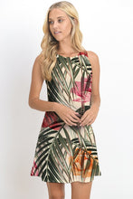 Load image into Gallery viewer, PRINTED SLEEVELESS MINI DRESS - TROPICAL/NUDE
