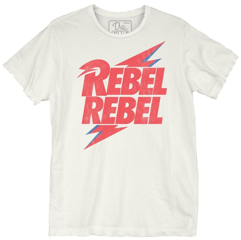 BOWIE REBEL TEE - WHITE