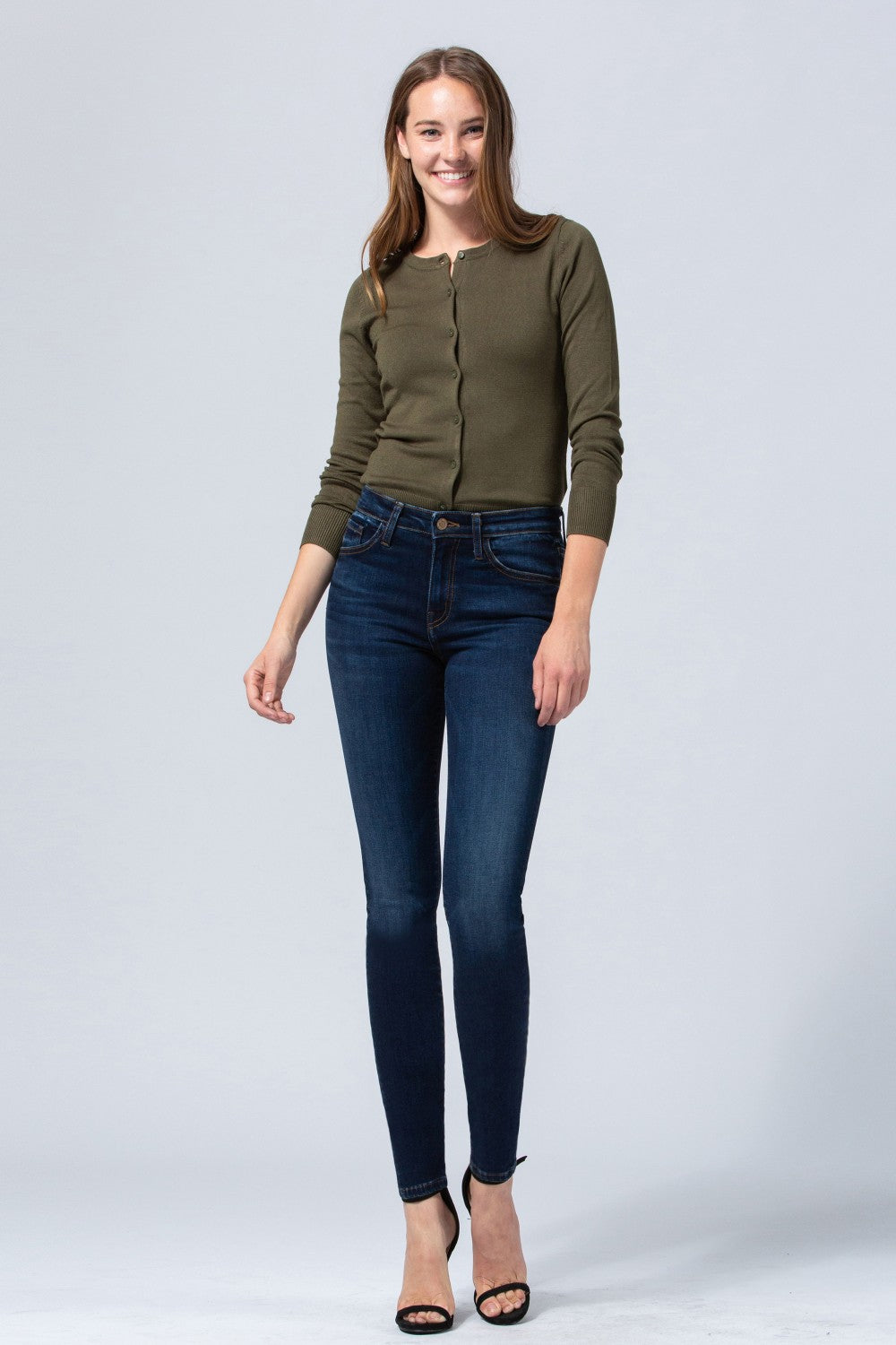 MID RISE CROP SKINNY - HIGHLIGHT