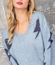 Load image into Gallery viewer, Thunderbolt Sweater - Navy