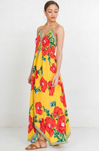 Load image into Gallery viewer, FLORAL MAXI DRESS - YELLOW