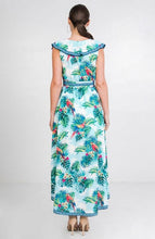 Load image into Gallery viewer, LEAF PRINT WRAP MAXI DRESS - MINT