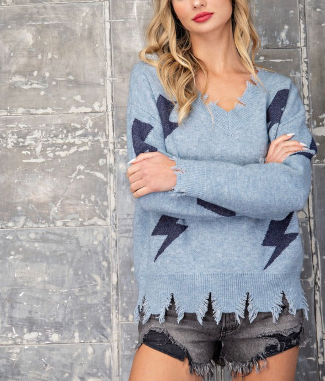 Thunderbolt Sweater - Navy