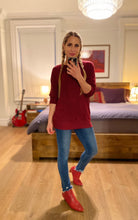 Load image into Gallery viewer, Raglan Sweater - Burgundy