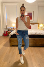 Load image into Gallery viewer, Sequin Jogger - Denim