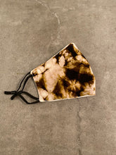 Load image into Gallery viewer, ADULT TIEDYE FACE MASK - BROWN / BEIGE