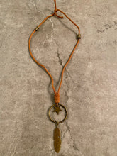 Load image into Gallery viewer, leather dream charger neclace - N/A