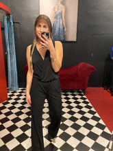 Load image into Gallery viewer, SLEEVELESS JUMPSUIT - BLACK