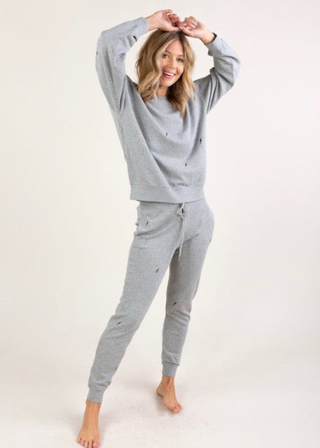 LIGHTNING BOLT JOGGERS - GREY
