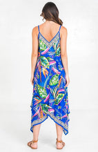 Load image into Gallery viewer, PRINTED HANKY DRESS - BLUE / GREEN