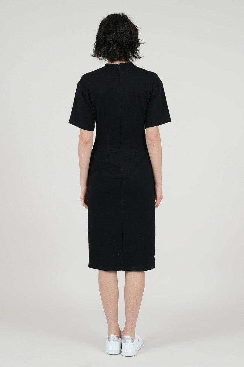 YOUNG WOVEN DRESS - BLACK