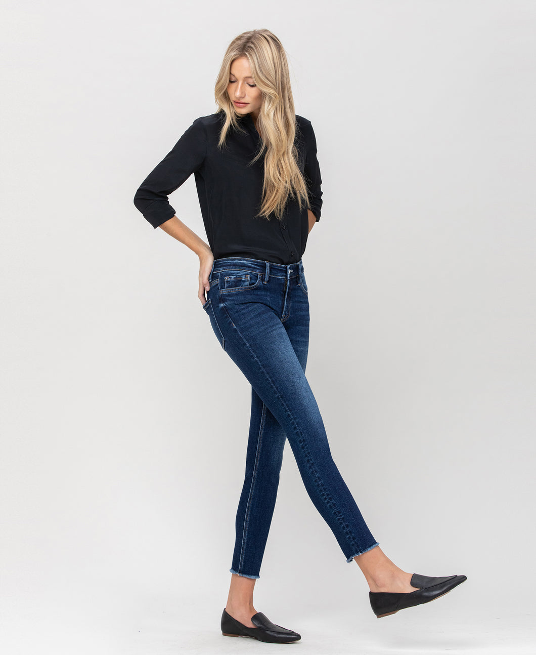Mid rise cropped skinny - Wolf