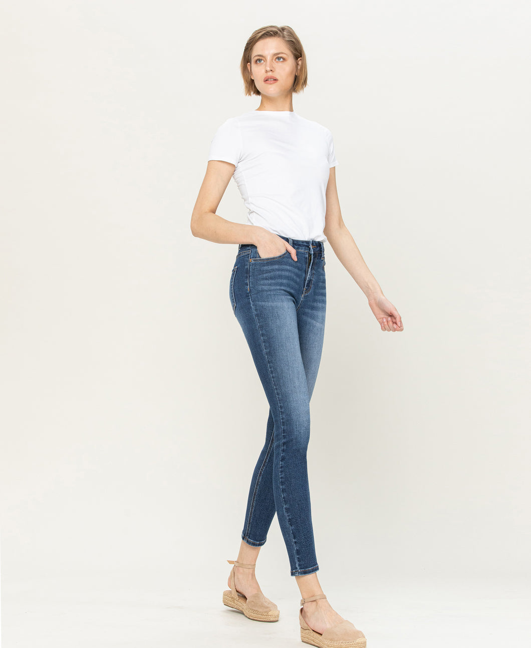 HIGH RISE ANKLE SKINNY - HIDE