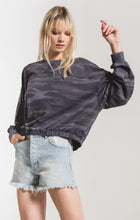 Load image into Gallery viewer, CAMO RELAXED PULLOVER - DARK BLUE
