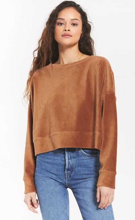 Cord Pullover - Camel