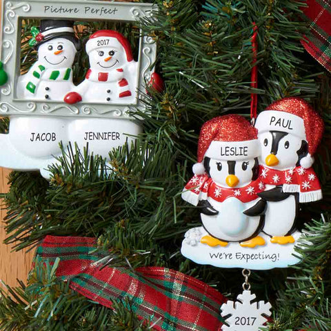 Personalized Couples Ornaments - Personalized Christmas Ornaments Dibsies Personalization Station