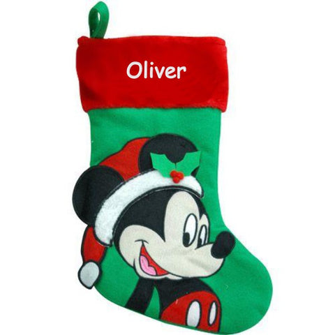 Personalized Disney's Mickey Mouse Christmas Stocking
