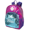 Personalized Magic Reversible Sequins Backpack - Hot Pink Hologram with Turquoise Sequins