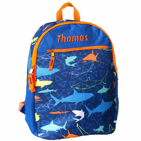 Personalized Dibsies Grab n Go Sharks Backpack