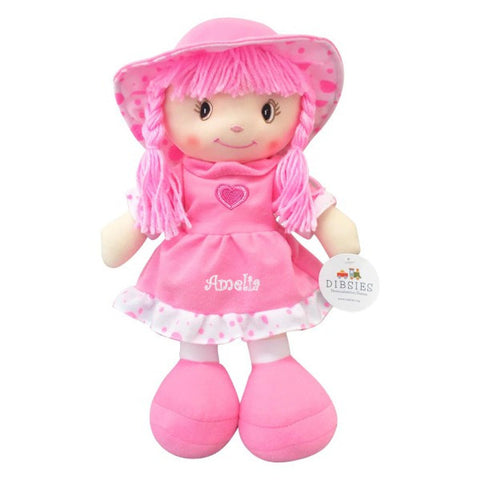 Personalized Sweetheart Cuddle Doll - 14 Inch, Pink