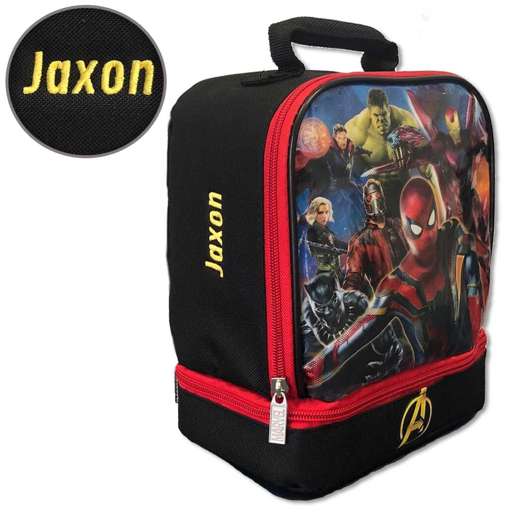 Personalized Avengers Lunch Box - Double Compartment
