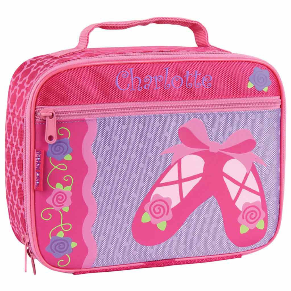 Personalized Classic Pink Ballet Shoes Lunch Box