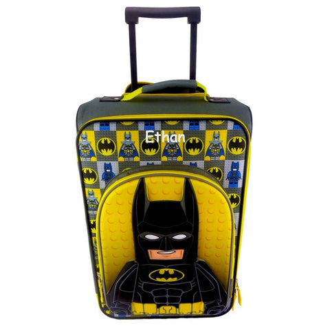 Personalized Lego Batman Rolling Luggage