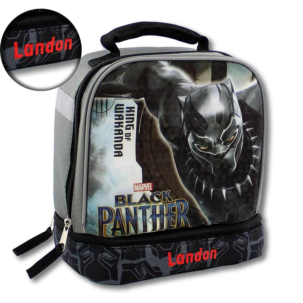 Personalized Marvel Black Panther Insulated Lunch Box