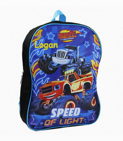 Personalized Blaze and the Monster Machines Character Backpack - 15 Inch